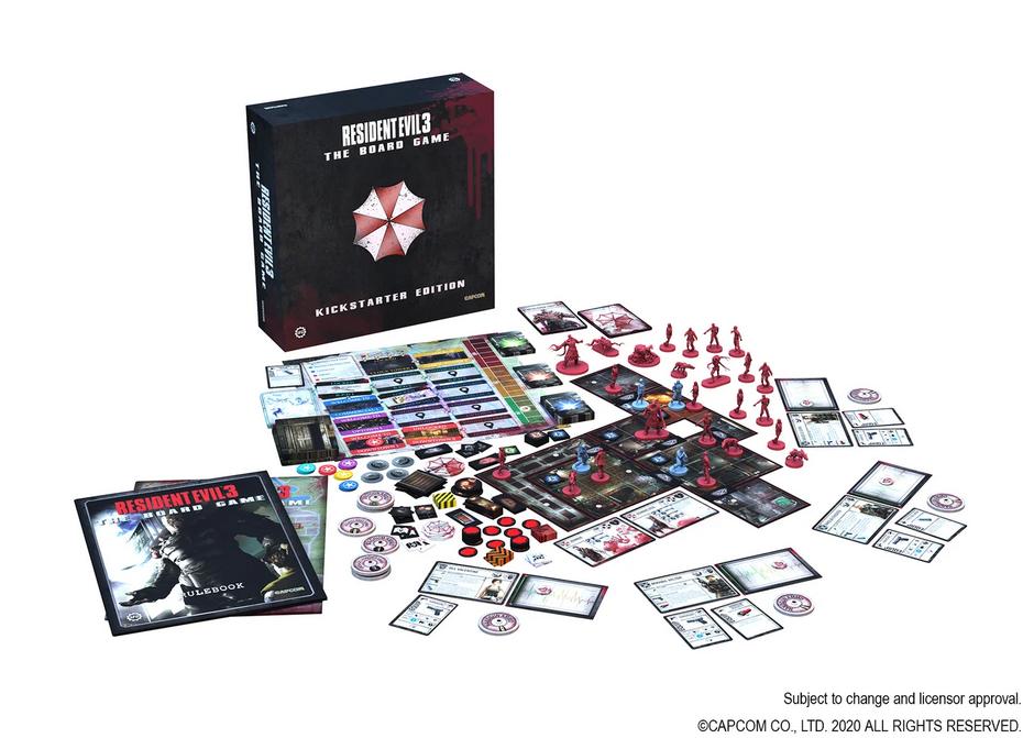 De nouvelles images du jeu de plateau Resident Evil 3